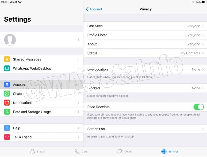Configuraciones iPad