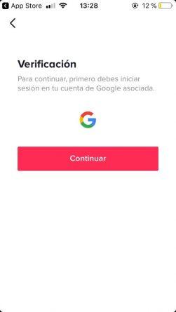 cuenta google TikTok