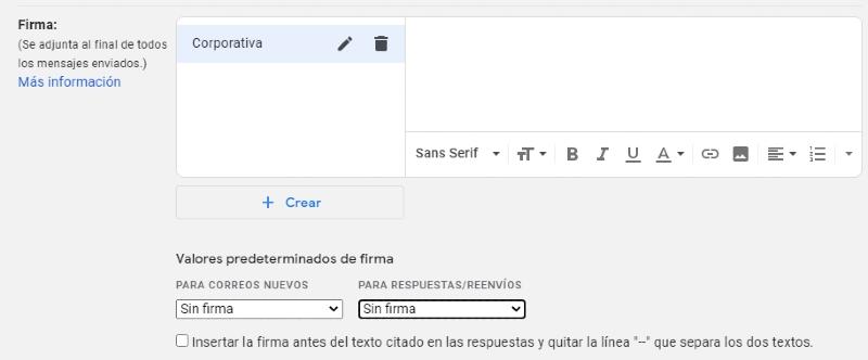 firmar Gmail Web