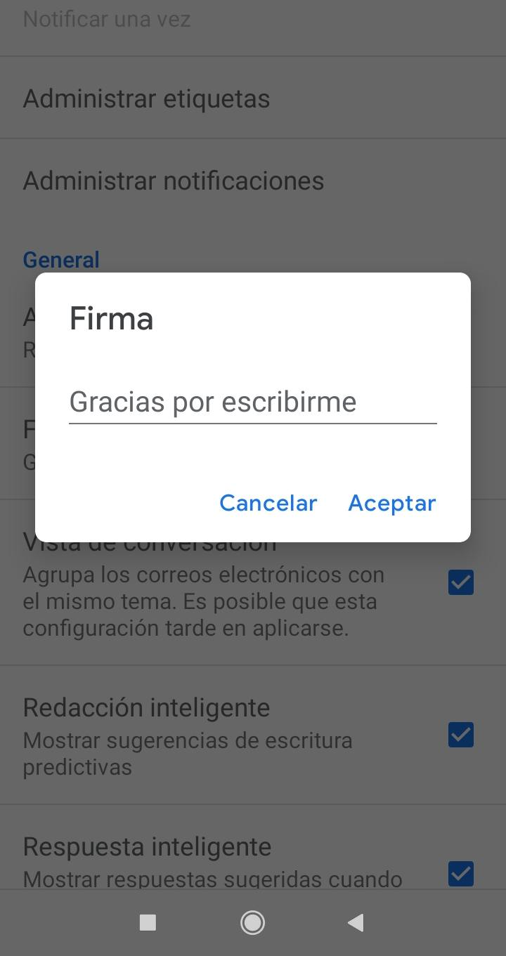 Gmail firma android