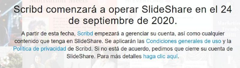 Aviso de SlideShare