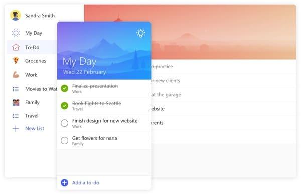 Microsoft To-Do gestión de tareas