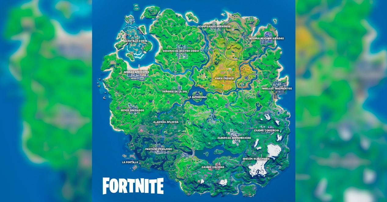 Fortnite Mapa temporada 4 capitulo 2