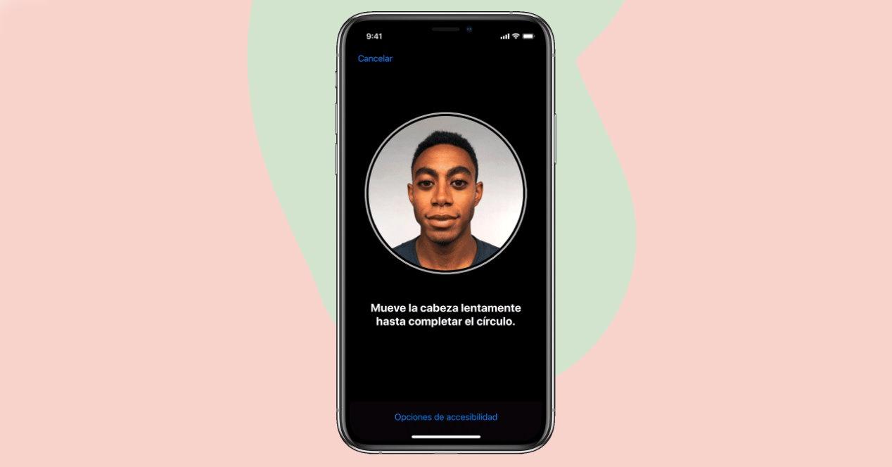 Configuración Face ID iPhone
