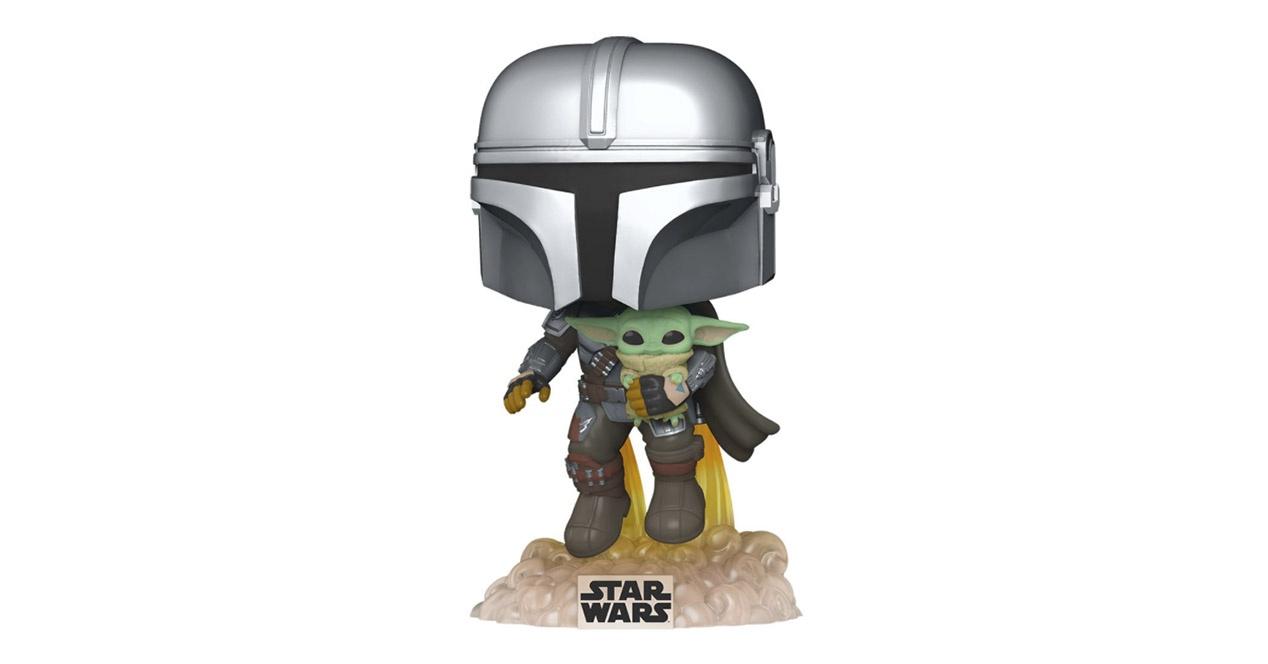 The Mandalorian + Baby Yoda en jet pack Funko
