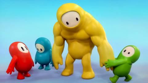 Fall Guys meme equipo amarillo