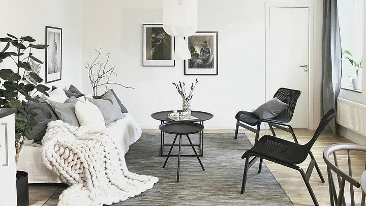 salon-decorado-en-blanco-y-negro