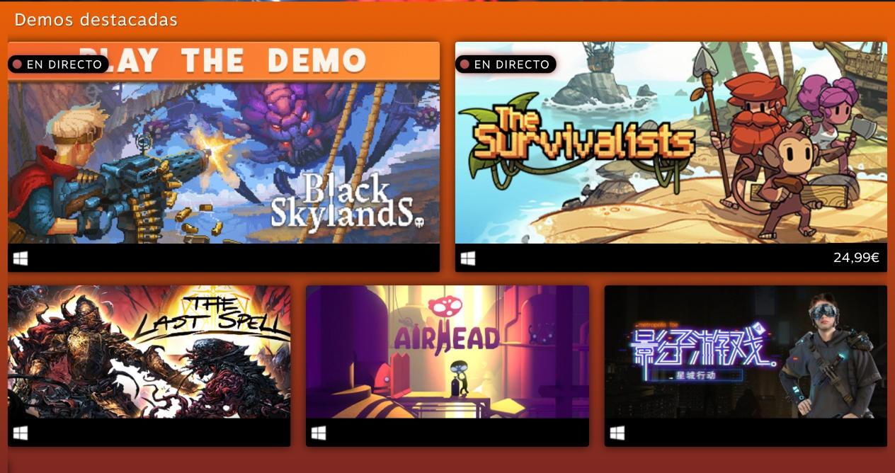 Nuevos Games Steam festival otoño
