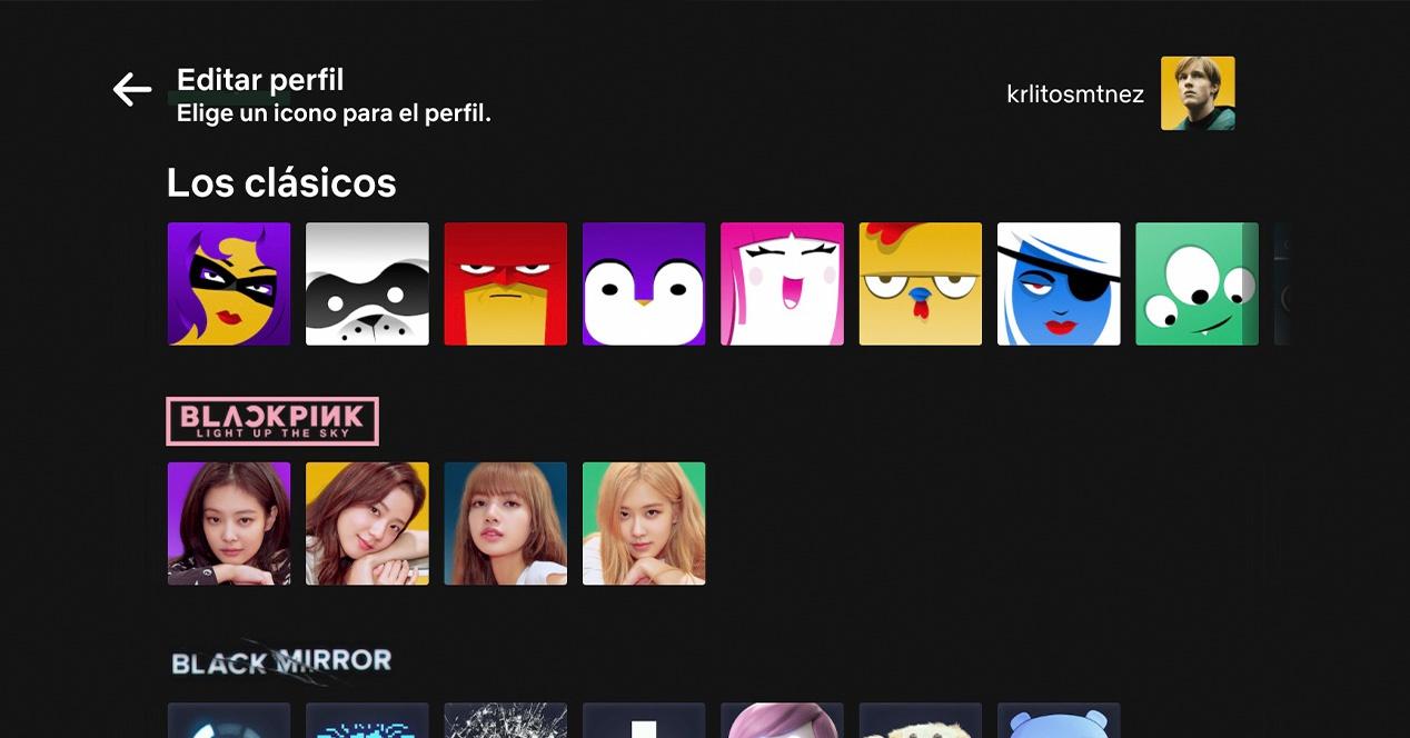 Netflix elegir avatar