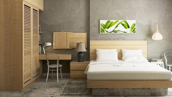 dormitorio-de-madera-con-alfombra