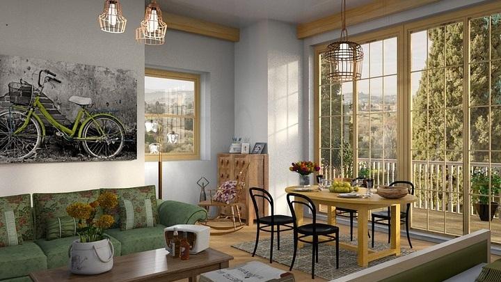 sofa-verde-en-el-salon