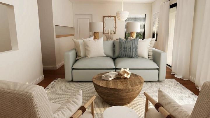 sofa-de-color-azul-en-salon
